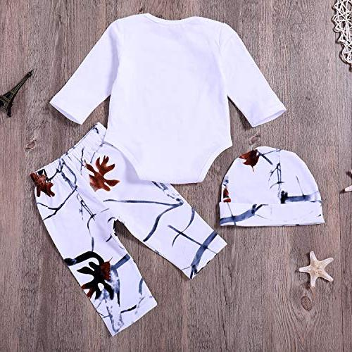 Younger Tree Newborn Baby Boy Girl Printed + 3Pcs Outfits