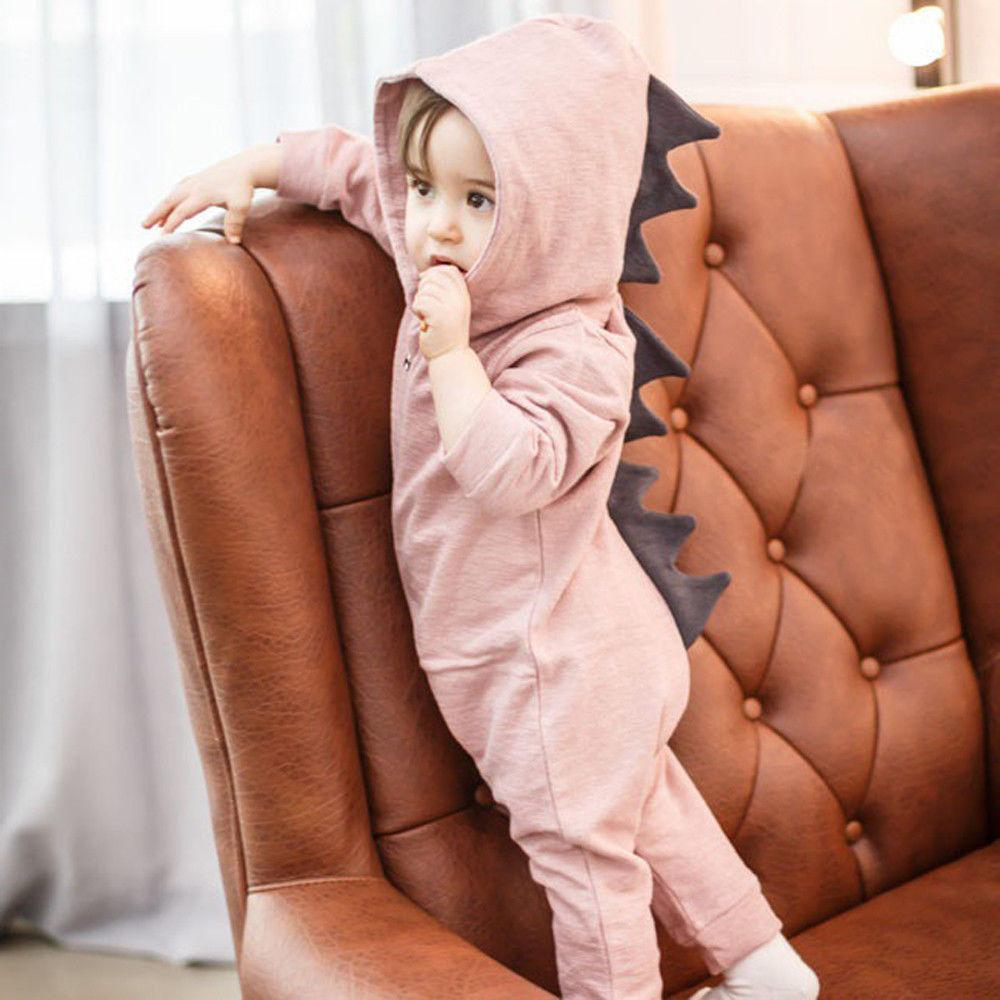 Newborn Infant Baby Boy Girl Hooded Jumpsuit