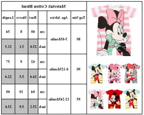 Newborn Baby Girls Bodysuit Playsuit Clothes Outfits