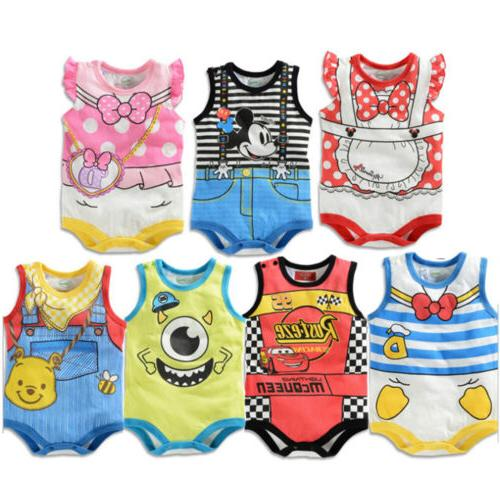 Newborn Infant Baby Girls Playsuit Clothes Outfits