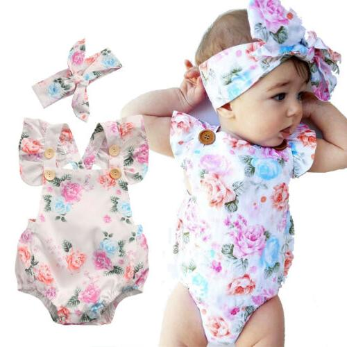 Newborn Baby Flower Outfit STOCK