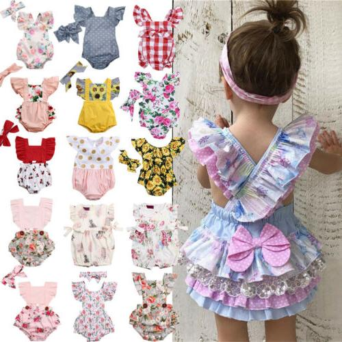 Newborn Infant Flower Outfit Clothes STOCK