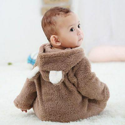 Newborn Infant Boy Girl Romper Hooded Bodysuit