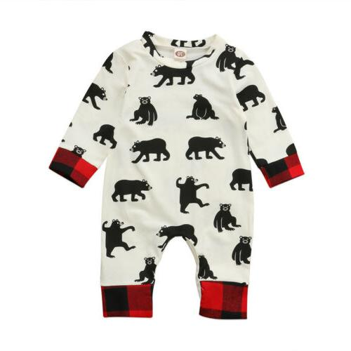 Newborn Baby Girl Clothes Romper Playsuit