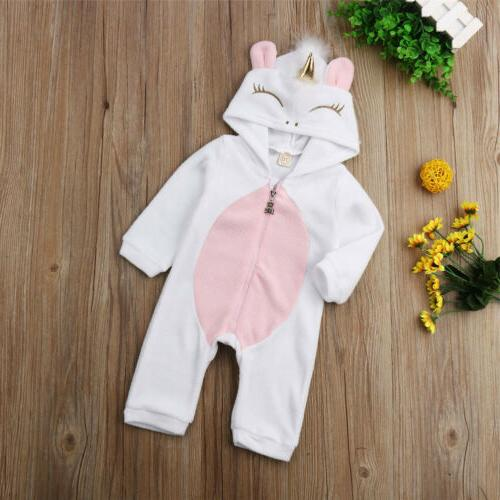 Newborn Kid Baby Unicorn Outfit Winter