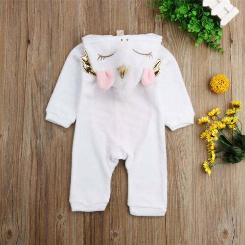 Newborn Kid Unicorn Outfit Warm Winter