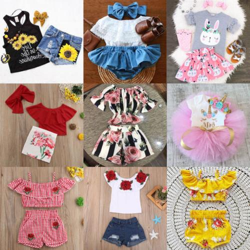 Canis Kid Girls Tops Shorts Tutu Clothes