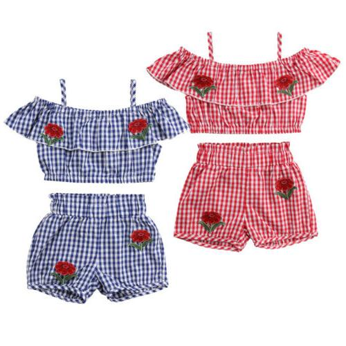 Canis Kid Girls Tops Tutu Outfit Clothes