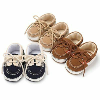 Newborn Months Infant Sneakers Baby Boy Girl Soft Crib Shoes