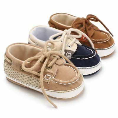 Newborn 12 Months Infant Toddler Sneakers Baby Boy Sole Crib