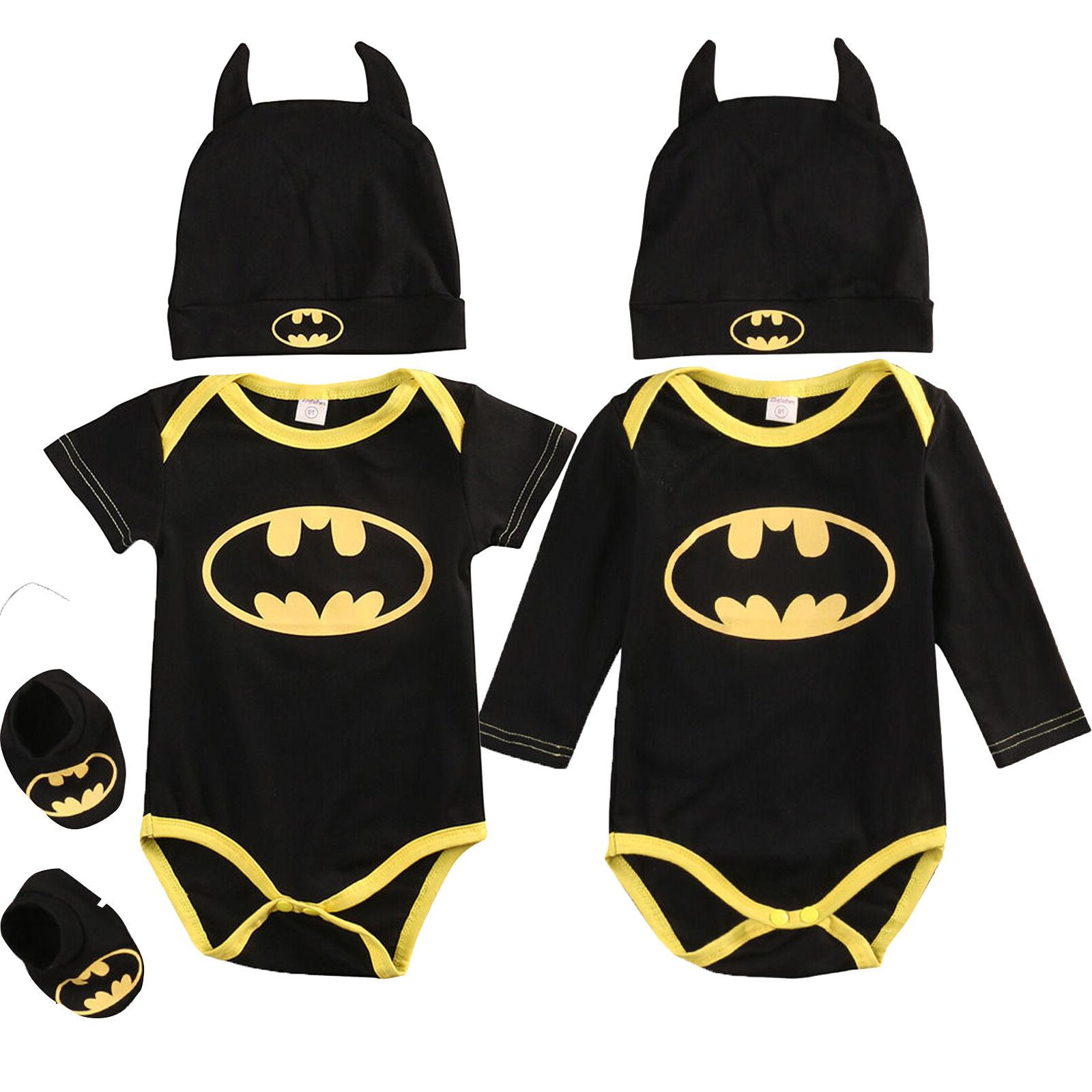 Newborn Toddler Batman 3Pcs USA