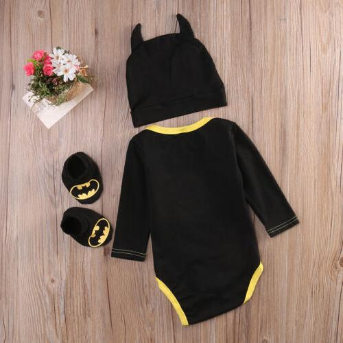 Newborn Toddler Boy Batman Hat 3Pcs USA