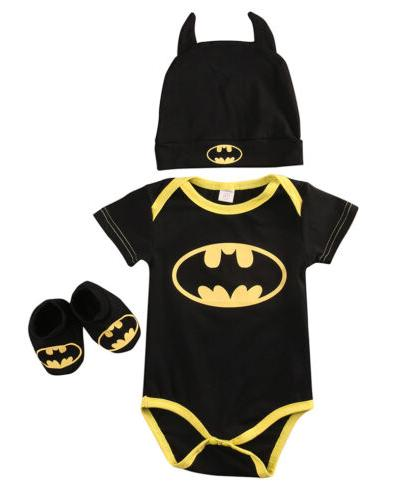 Newborn Batman Romper 3Pcs USA