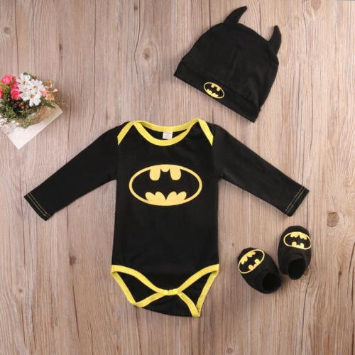 newborn toddler baby boy batman romper shoes