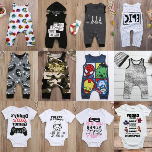 Newborn Toddler Girl Outfit Romper Cotton Clothes