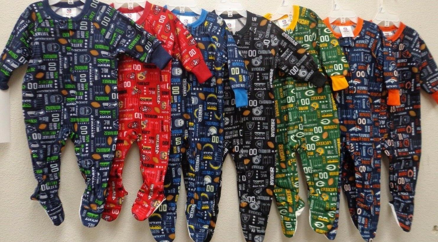 nfl blanket sleeper footed pajamas 12 18