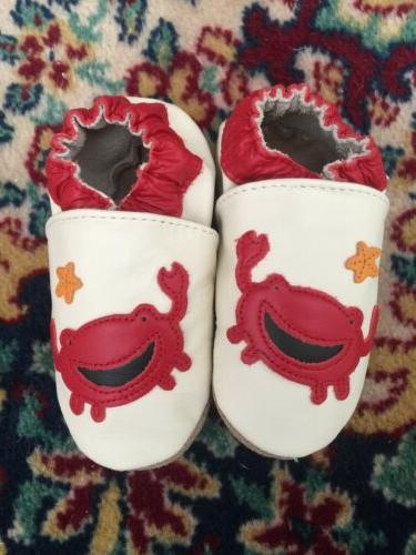 NIP Robeez 12-18 months Red toddler leather booties