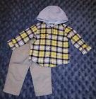 NWOT Carters Baby Boy Clothes 12 Months 2 Piece Hooded Shirt