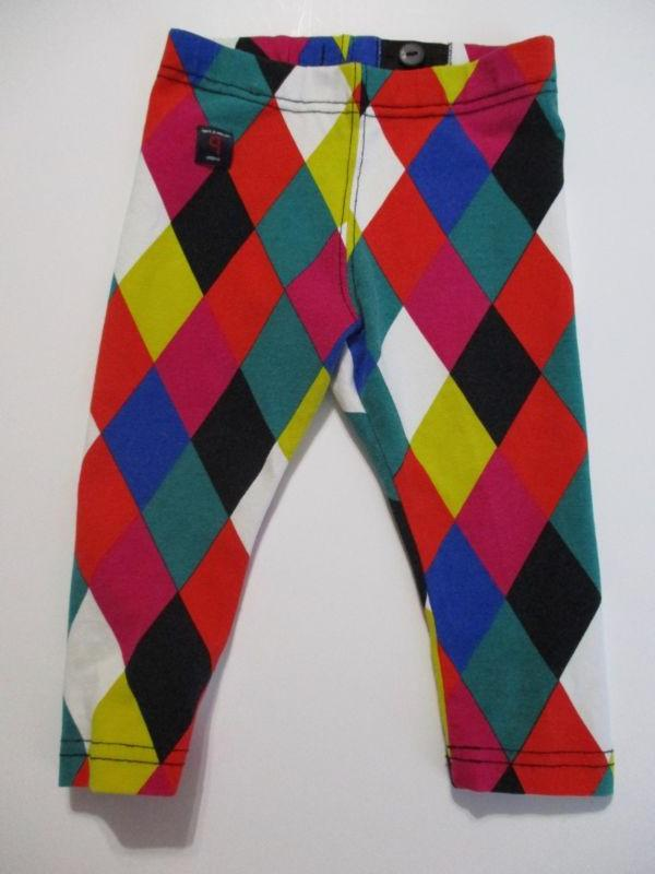 NWOT Polarn O. Pyret Harlequin Diamond Leggings Infant 80 9