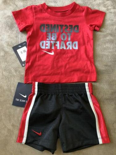 nwt 2 piece t shirt and shorts