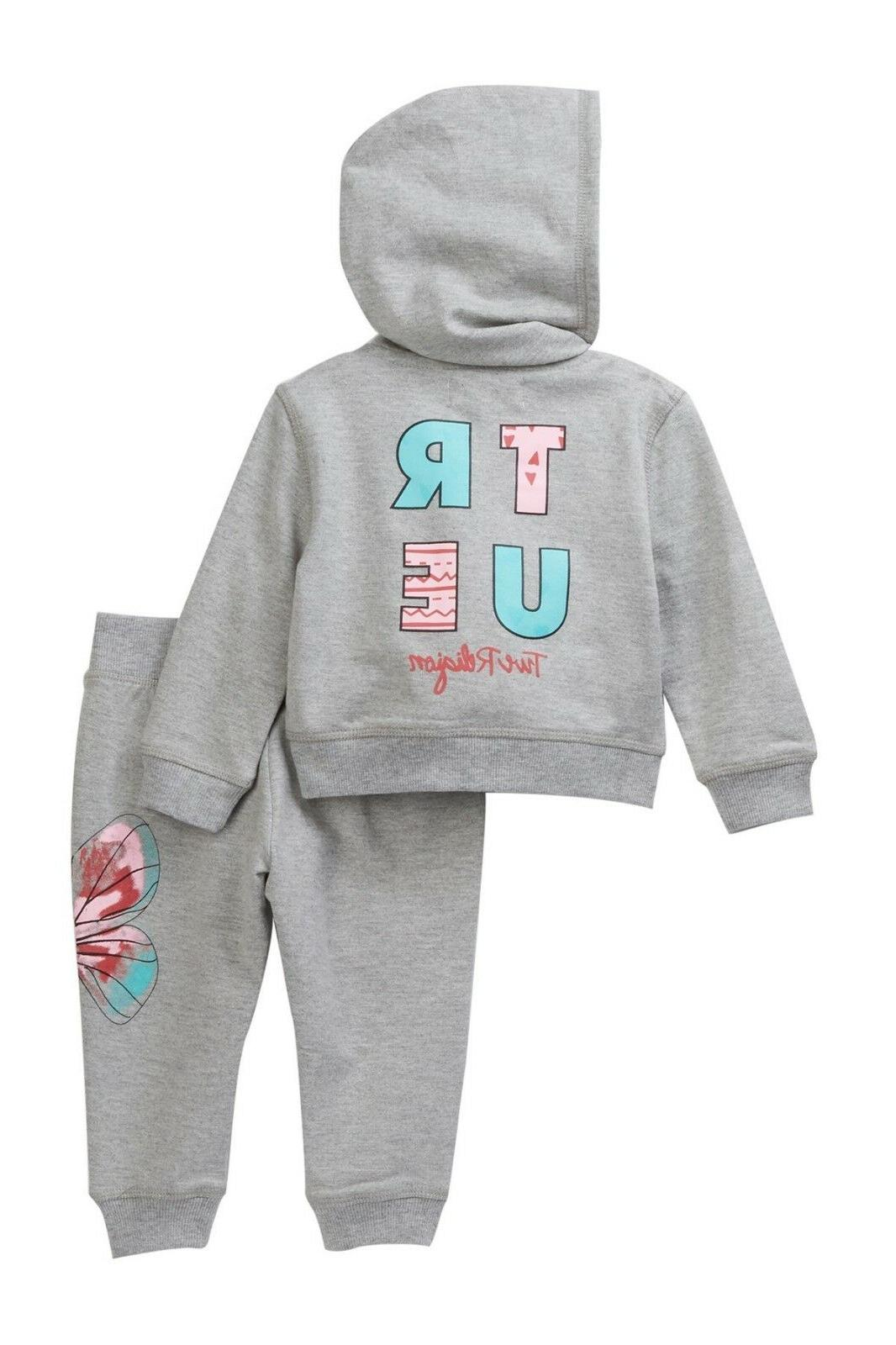 NWT $79 True French Terry Sweatsuit Baby Girls 18Mo, 24Mo