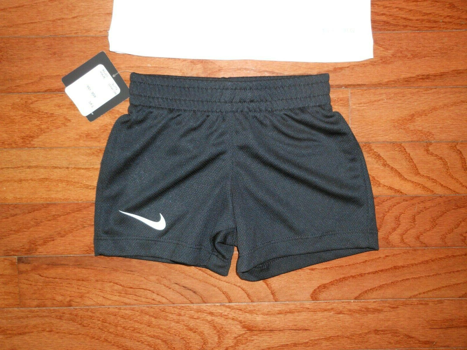 NWT Nike Baby 2pc black short outfit set, size