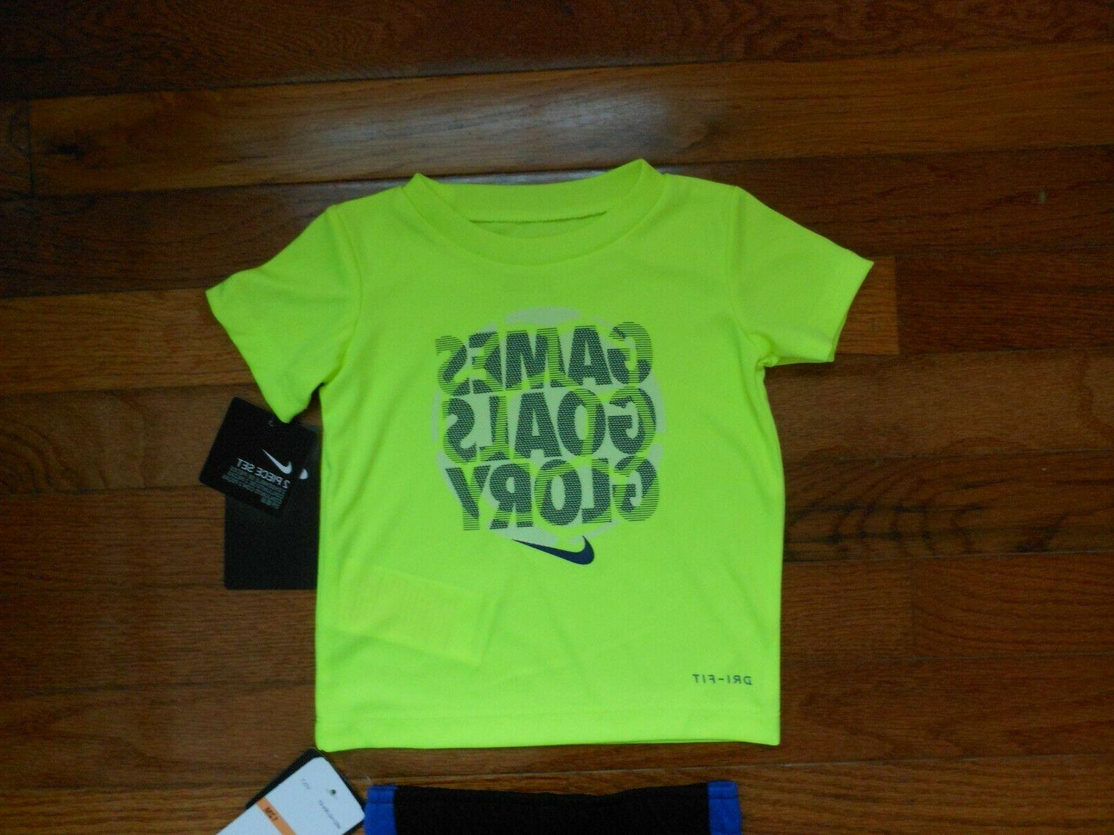 NWT Nike Baby Boys 2pc shirt and black outfit size 12M