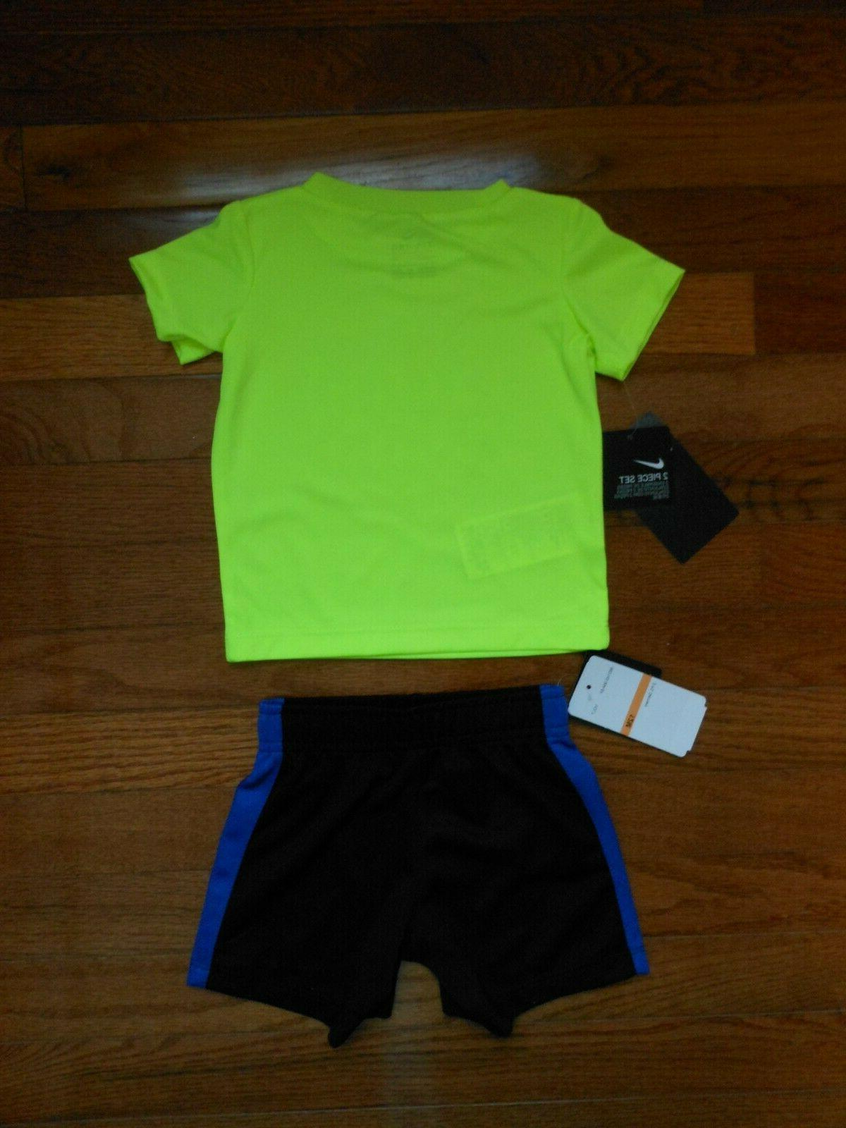 NWT Nike Baby 2pc black set, size 12M