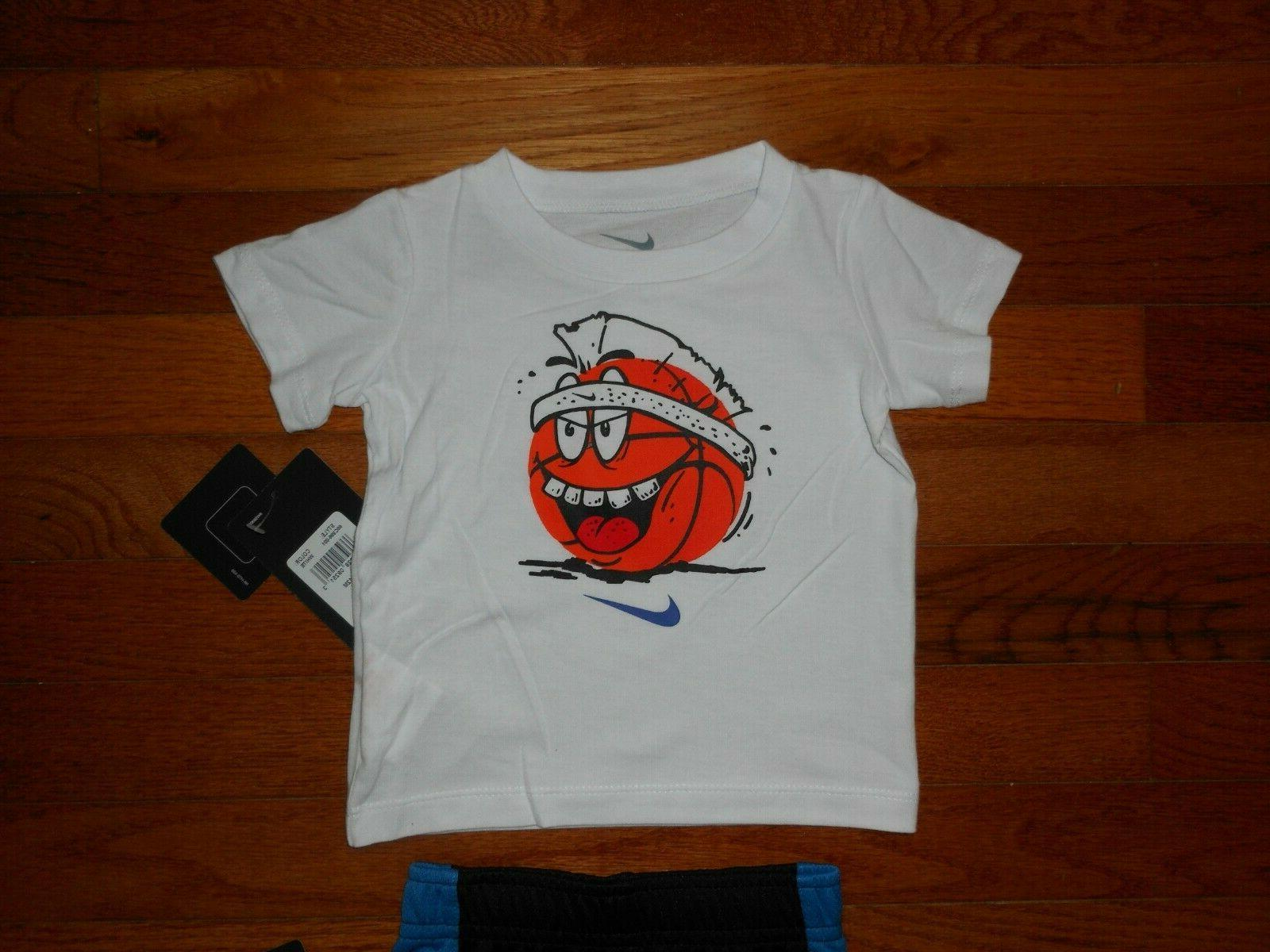 NWT Nike Baby Boys 2pc black short outfit size