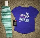 NWT UNDER ARMOUR Baby Girl 12 Months Purple Teal Green Set O
