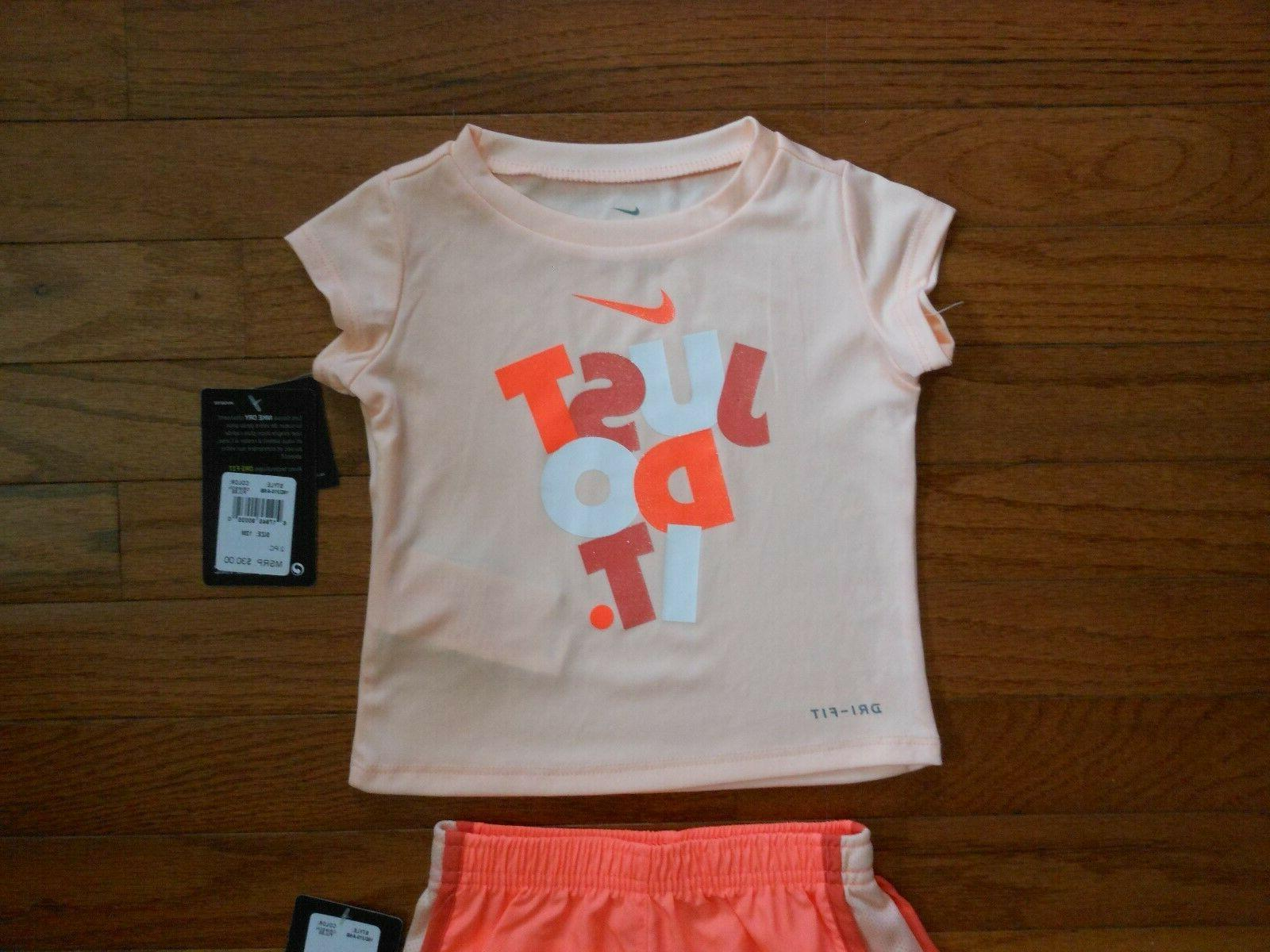 NWT Baby Girls 2pc shirt outfit set, & 24M