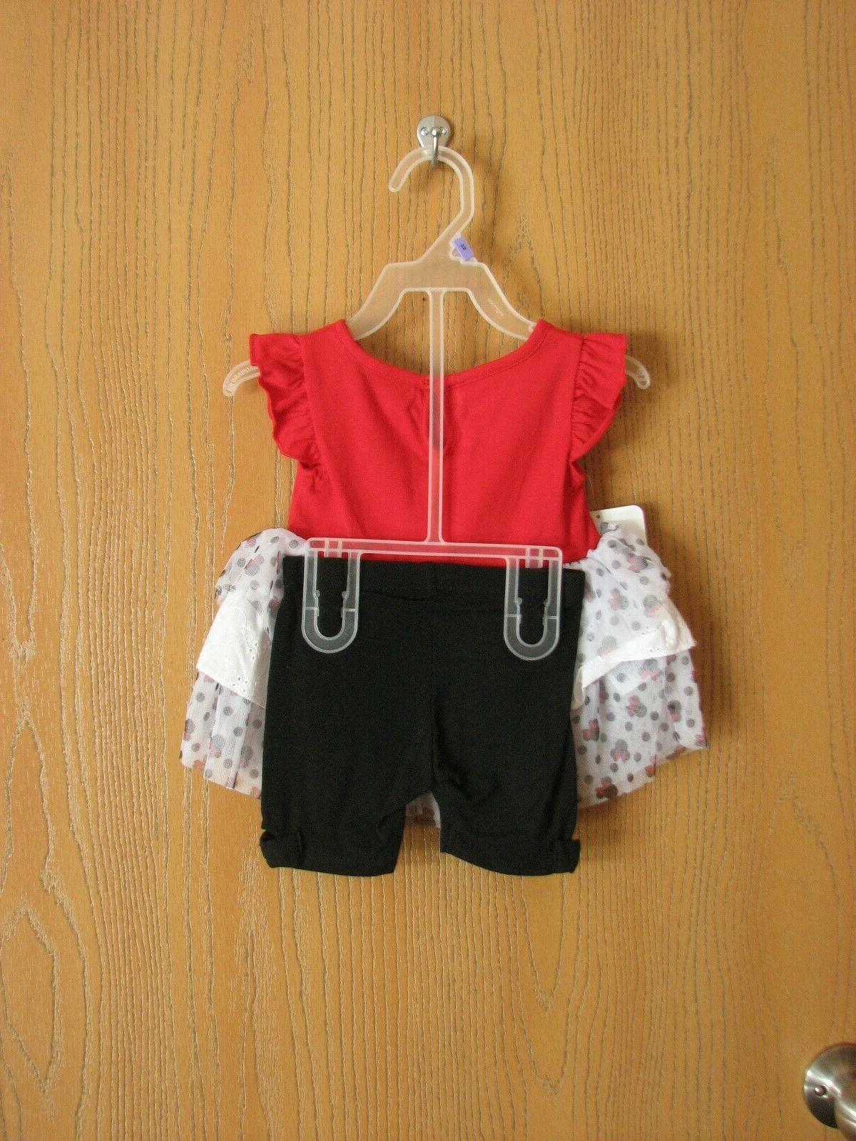 NWT Disney Baby MOUSE Two Ruffle Short Set 12 Months