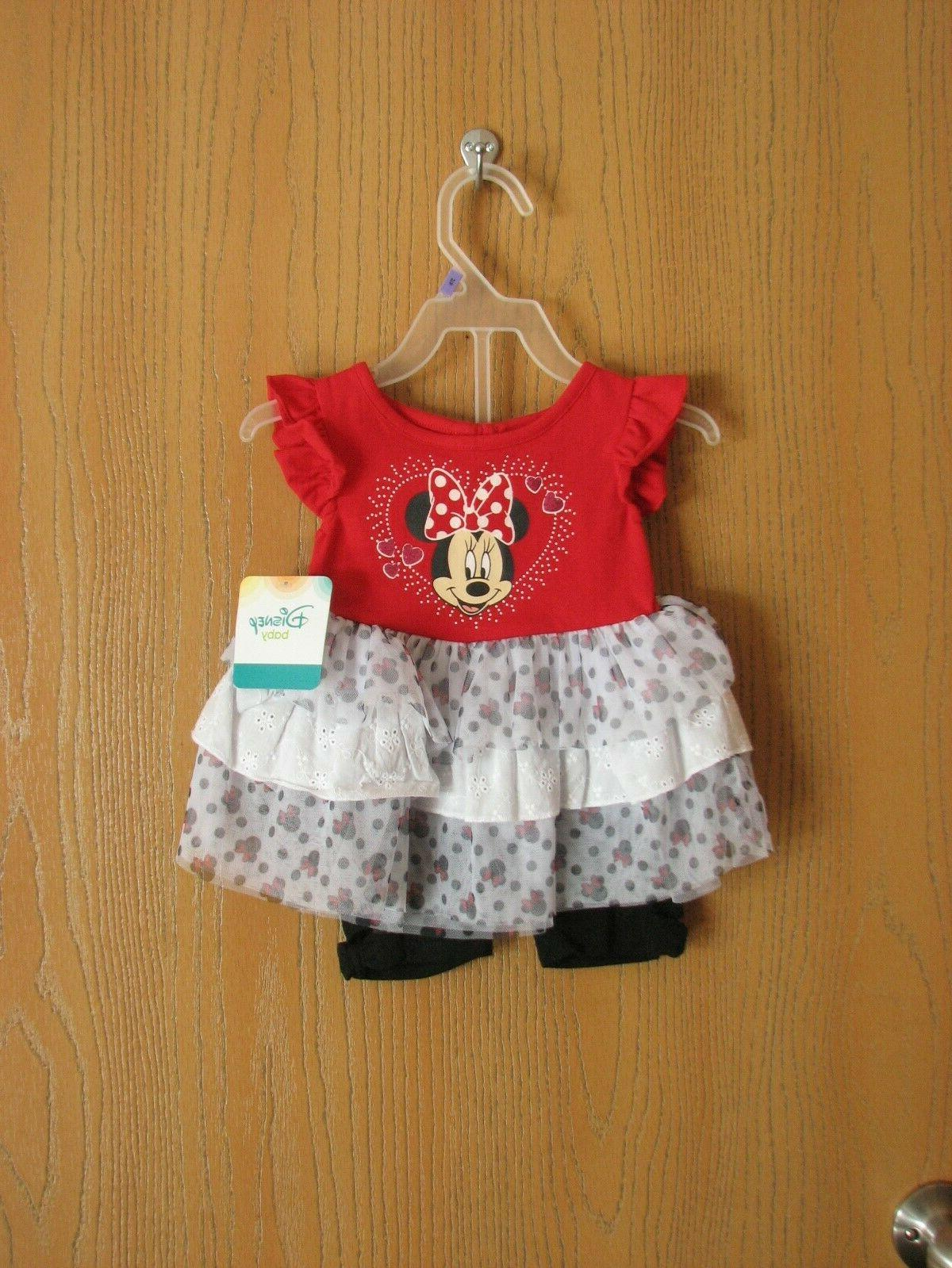 nwt baby minnie mouse girls two piece