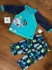 NWT BOYS SIZE 12 MONTHS LITTLE ME TWO PIECE ROBOT THEMED PAJ