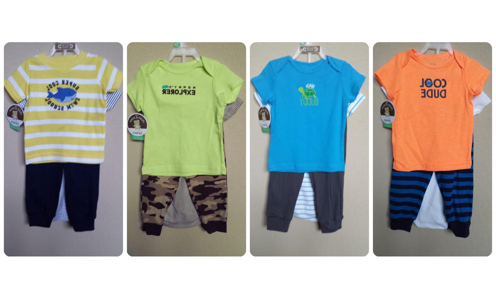 *NWT- CARTER'S- BABY BOY'S 3-PC SS OUTFIT SET - PREEMIE - 12