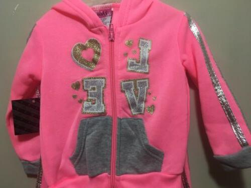 NWT, 12 Months, 2 Pink& Gray Outfit
