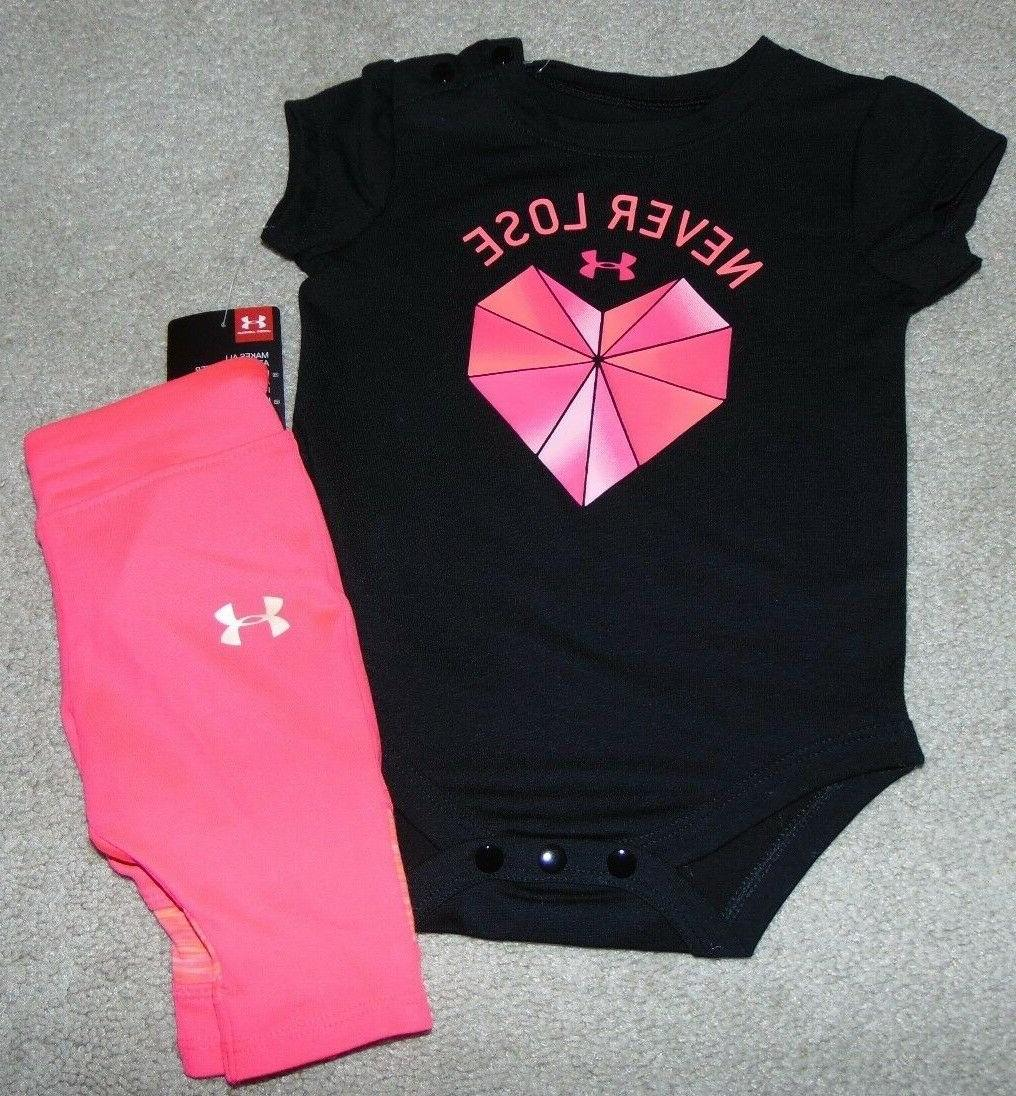 ~NWT Girls UNDER ARMOUR Outfit! Size 9-12 Months Super Cute: