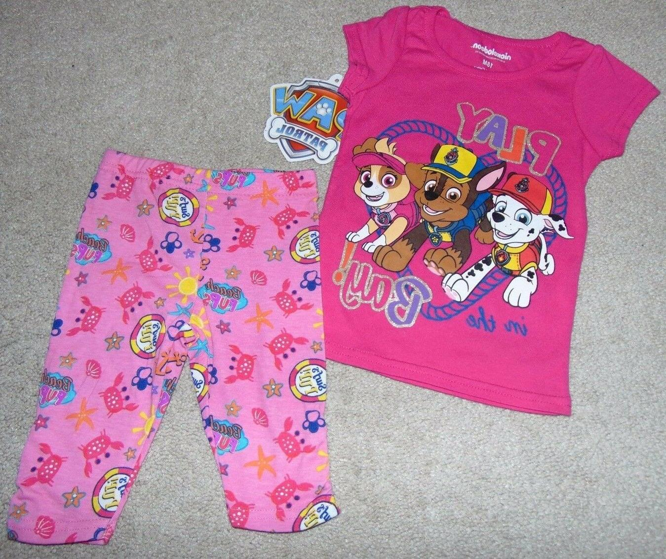 nwt girls paw patrol outfit size 12
