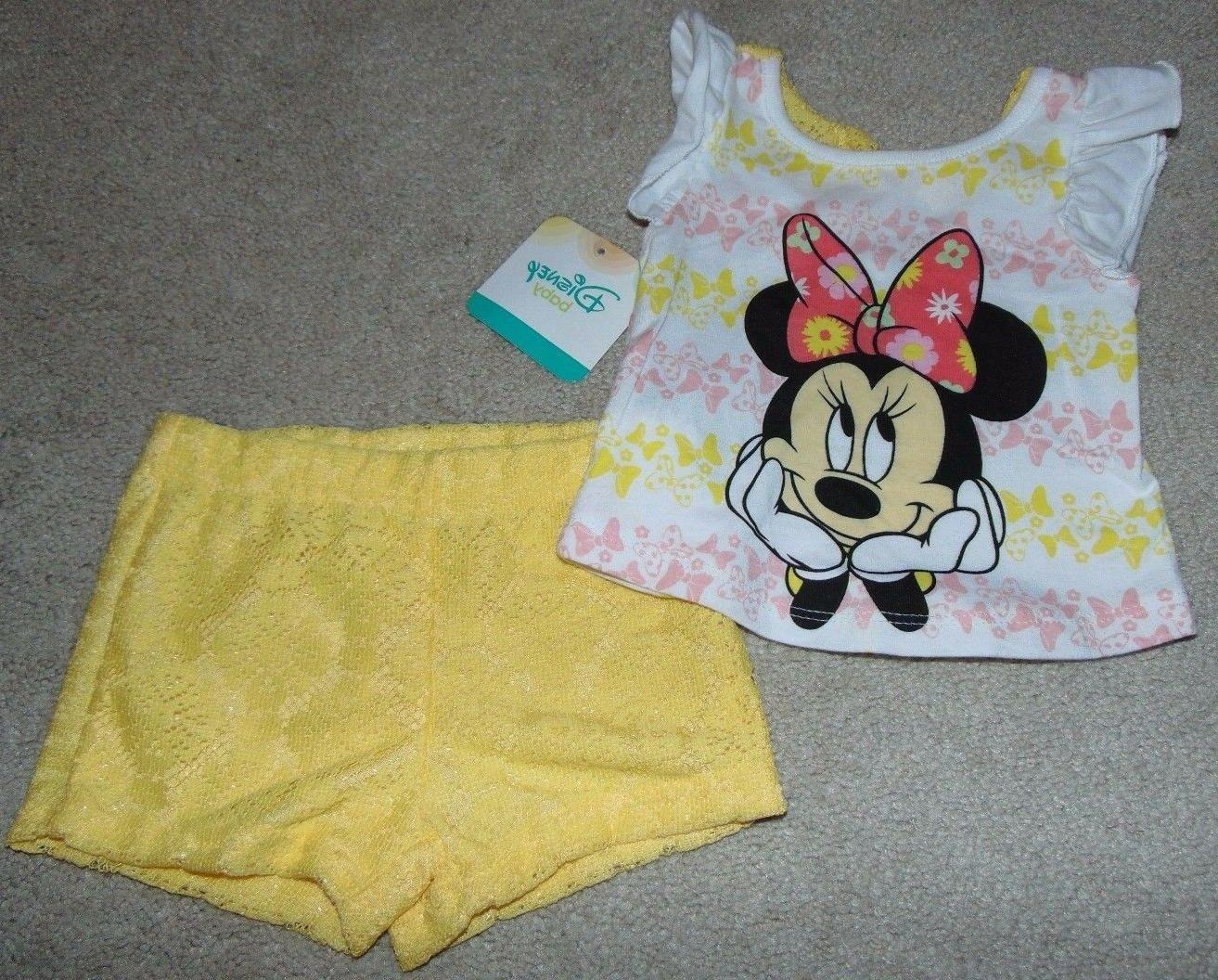 ~NWT Girls DISNEY'S MINNIE MOUSE Lace Outfit! Size 12 Months
