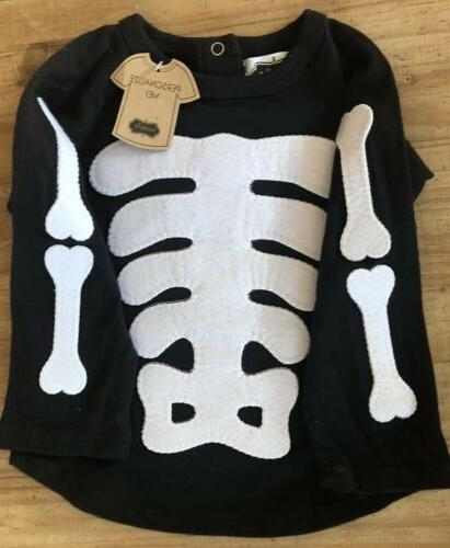 nwt halloween baby skeleton one piece long