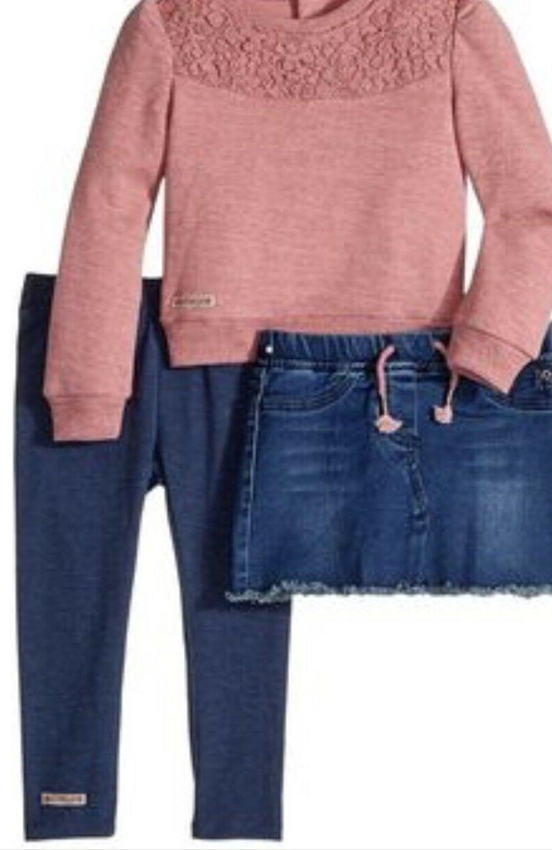 nwt jeans pink sweater skirt and legging