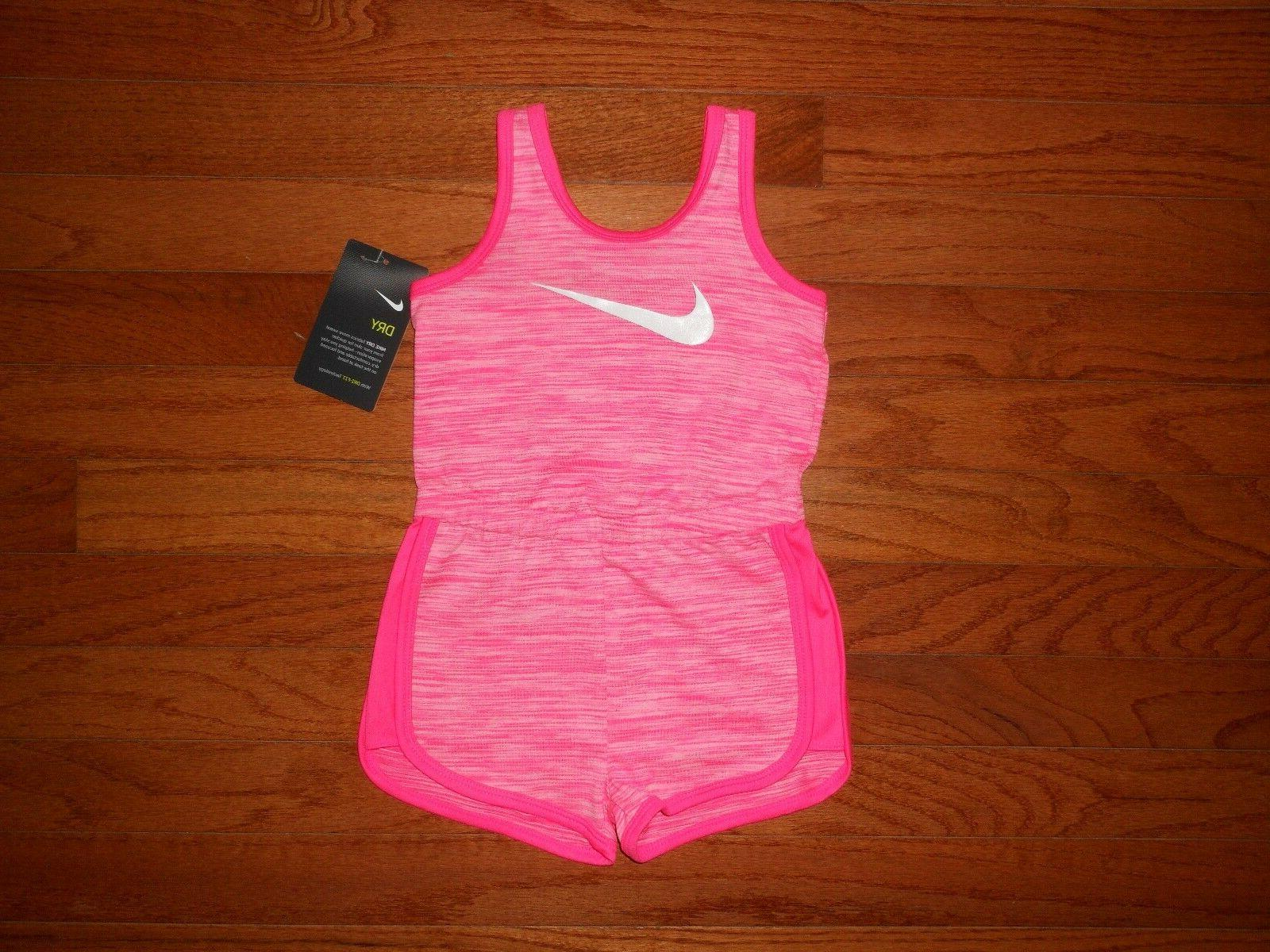NWT Nike Little Girls romper outfit, Size  12M 24M 2T 4T 5 6