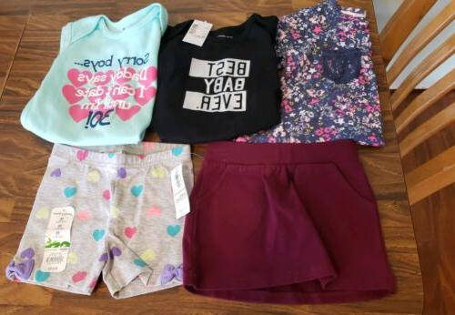 nwt lot 5 pieces baby girl clothes