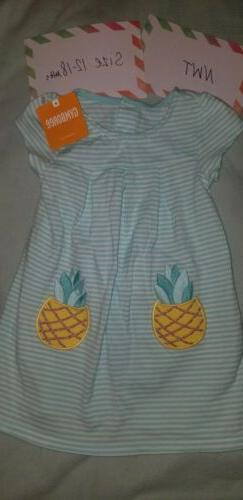 nwt pineapple dress size 12 18 months