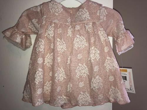 Nwt Baby Rose Pink 3/4 Sleeve Fancy