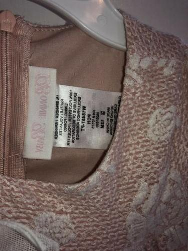 Nwt Pink 3/4 Sleeve Fancy Floral