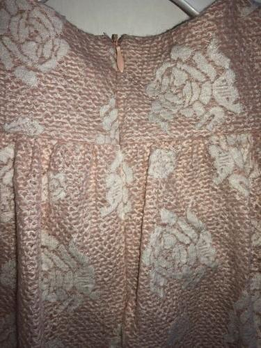 Nwt Baby Pink Sleeve Fancy Floral Dress 12 Months