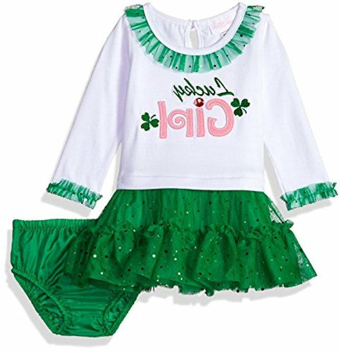 nwt st patricks day lucky girl long