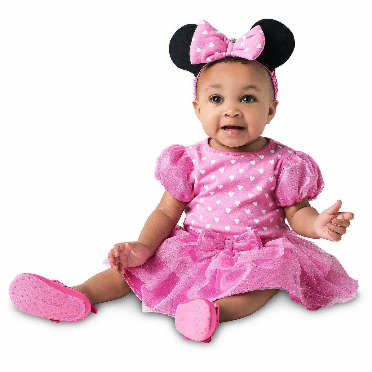NWT Disney Store 6 9 12 18 24 Mos Minnie Mouse Baby Costume