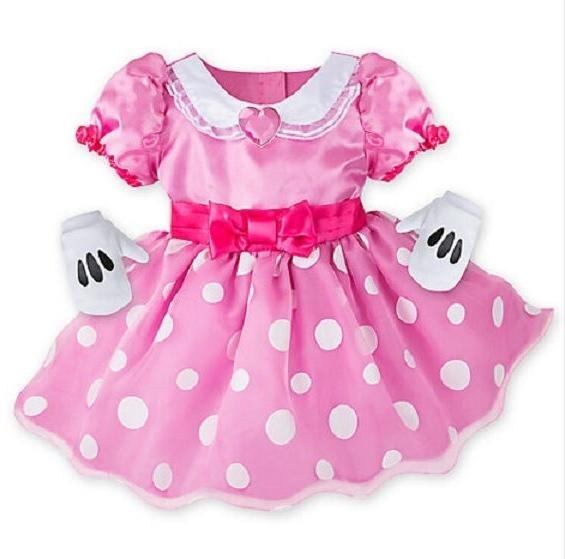NWT Disney Store Baby Girl's Minnie Mouse Deluxe Costume Siz